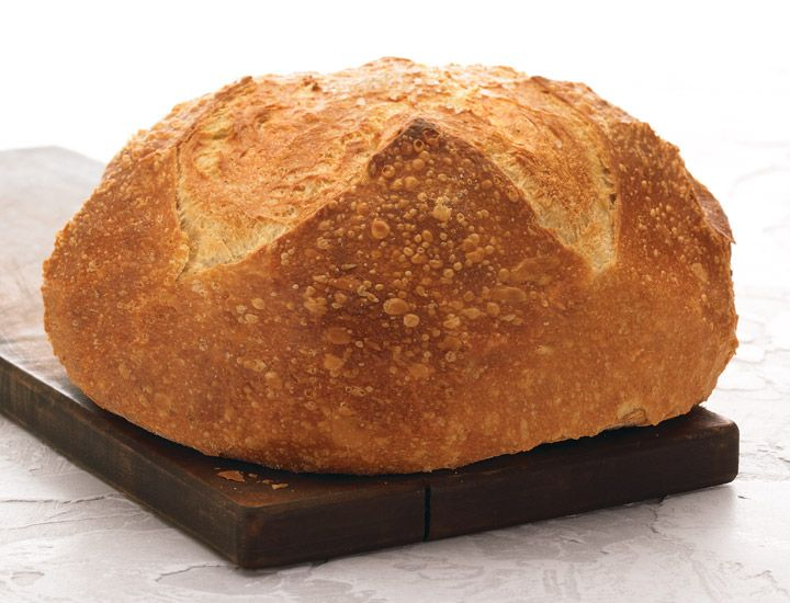 Rosemary Olive Oil Boule: A light, airy interior rich in olive oil and fragrant with rosemary, with a thin crisp crust finished with a sprinkling of sea salt. Wonderful for light sandwiches and salads, or as an accompaniment to lunch or dinner.