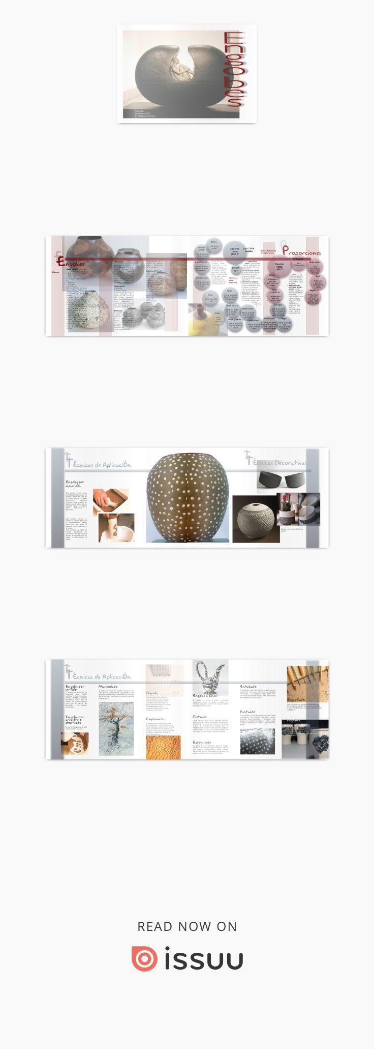 Estudio de engobes ceramicos. Definicion, variantes, tipos, metodo de aplicacion,...