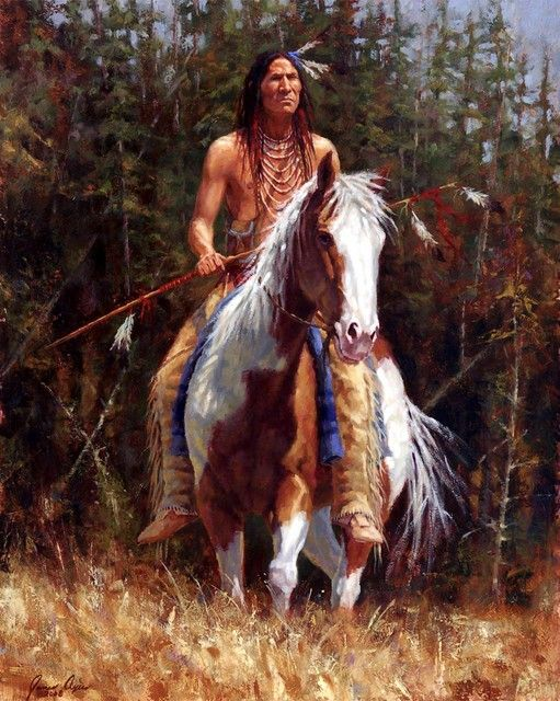 Luther Standing Bear, Oglala Chief of the Black Hills - Artist James Ayers