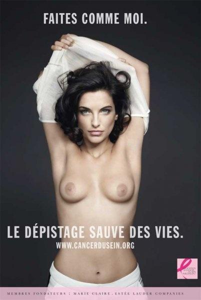 """Pauline Delpech, ambassadrice de charme de l'association """"Le cancer du sein, parlons-en !"""" - Marie Claire"""