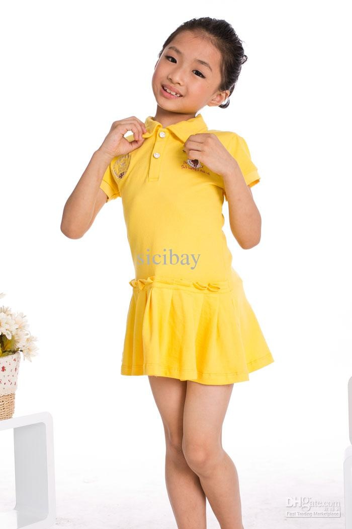 Solid color dresses for girls