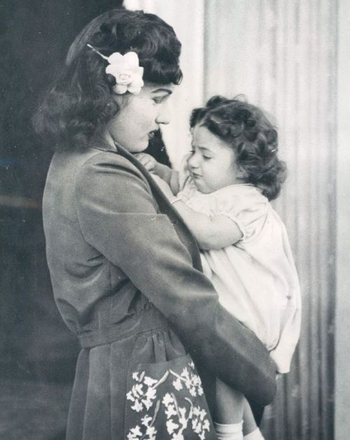 Princess Fawzia with daughter Princess Shahnaz Pahlavi..............http://www.pinterest.com/madamepiggymick/arab-royalty-iran/