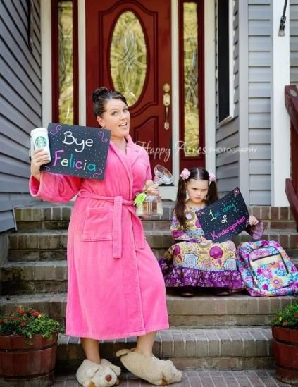 A creative mom staged an unsentimental first-day-of-school photo shoot with her child that's gone viral, with mixed reviews.
