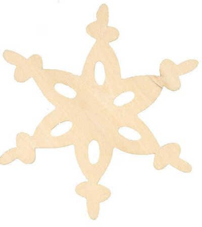 Unfinished Wood Lace Snowflake Cutout - Snow - Snowflakes - Glitter - Christmas and Winter - Holiday Crafts