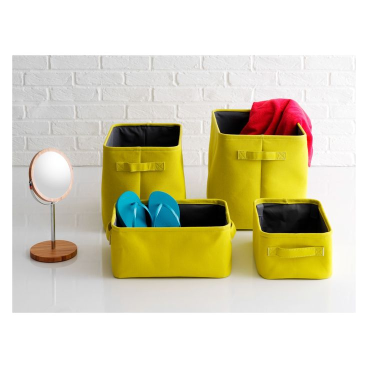JOLIE Set of 2 yellow storage boxes