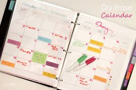 Dry Erase Calendar | Home Made by Carmona