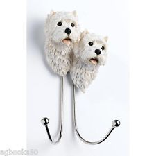 West Highland Terrier Dog Lead Double Hook Westie Coat Hooks Home Gift New  In Home, Furniture U0026 DIY, Storage Solutions, Wall Hooks U0026 Door Hangers