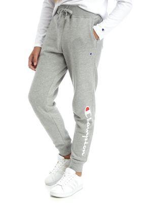 "Champion Jogger Tights Women/'s Heritage Sweatpants Fleece Skinny Fit Leg 27.5/"""