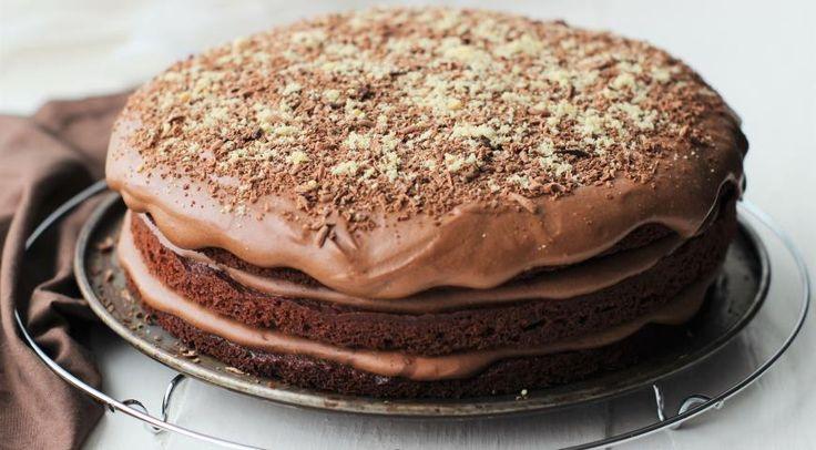Торт брауни с шоколадным кремом