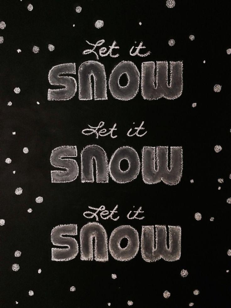 Snow chalk art