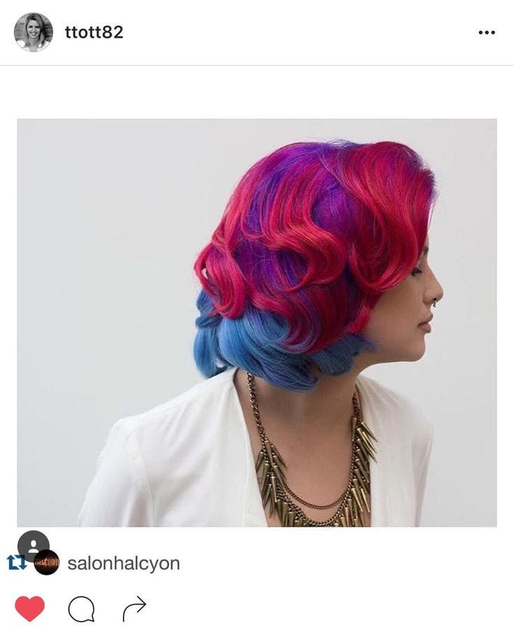 #taylormadehair Taylor Roberts (@ttott82) Halcyon Salon & Spa (@salonhalcyon) rainbow, red, pink, fuschia, blue, pastel, hair, Aveda, Pravana