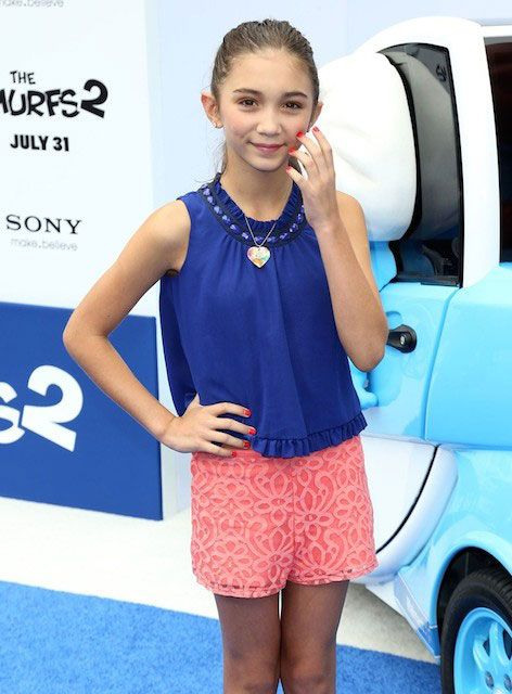 "Rowan Blanchard at the premiere of ""The Smurfs 2″..."