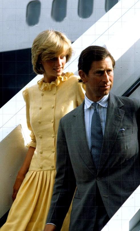 1983 Charles & Diana returning from second Bahamas holiday