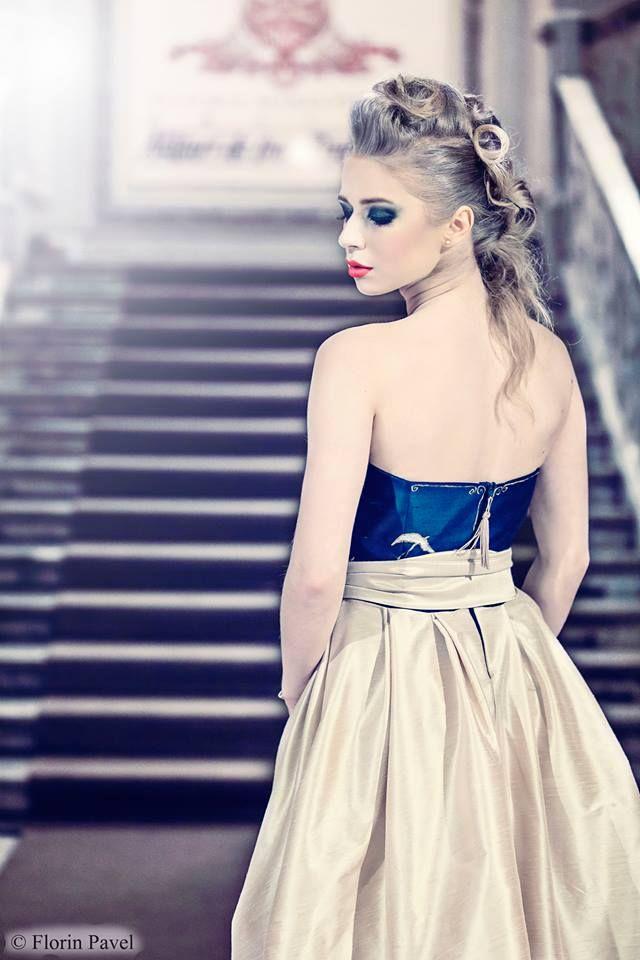 silk unique dress