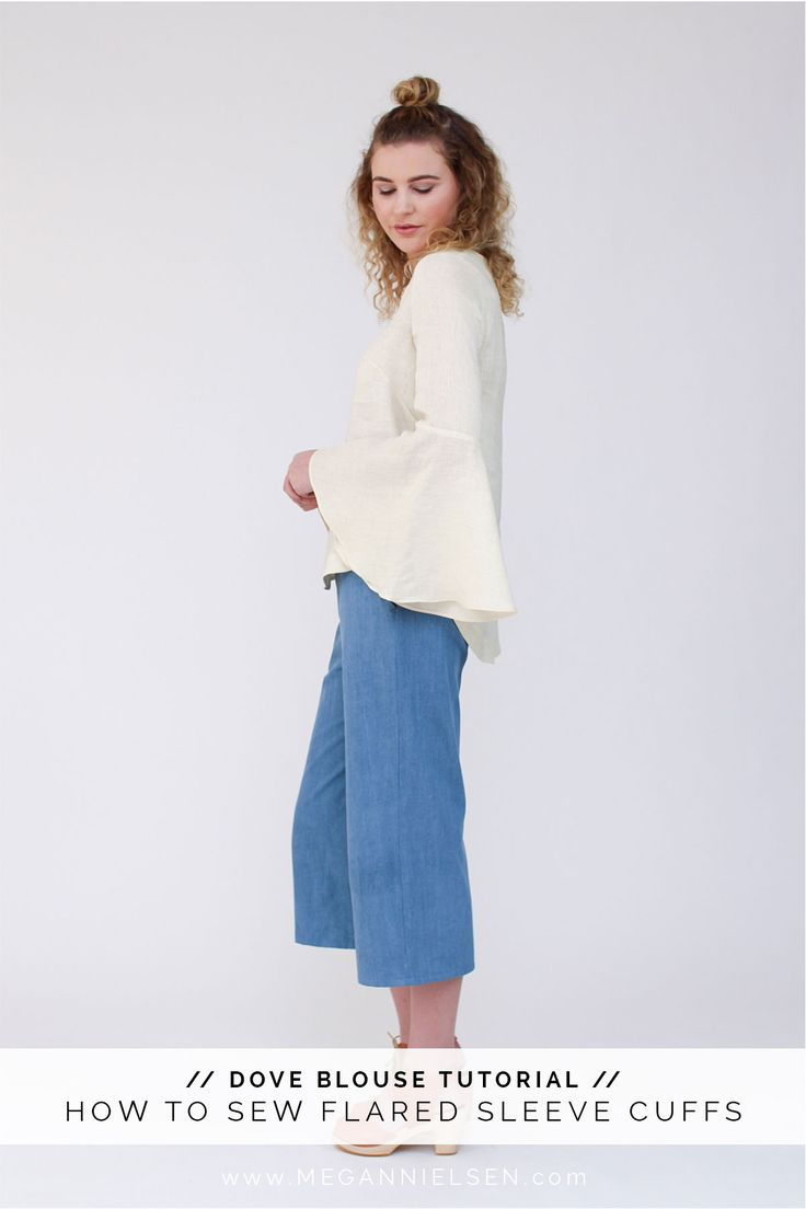 How to sew flared sleeve cuffs // A Dove blouse tutorial http://blog.megannielsen.com/2016/09/sew-flared-sleeve-cuffs-dove-blouse-tutorial/?utm_campaign=coschedule&utm_source=pinterest&utm_medium=Megan%20Nielsen%20Patterns&utm_content=How%20to%20sew%20flared%20sleeve%20cuffs%20%2F%2F%20A%20Dove%20blouse%20tutorial