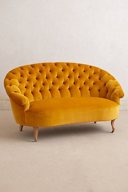Tufted Priscilla Settee #anthropologie #anthrofave - it looks so cozy