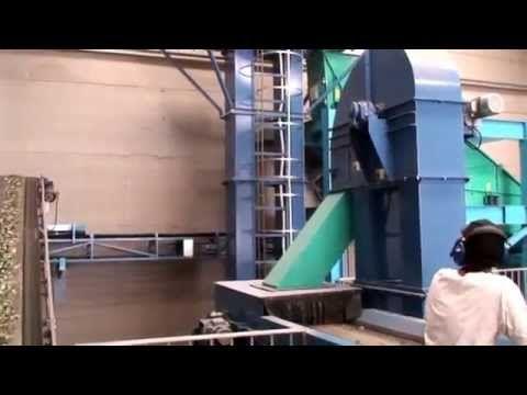 Planta de reciclaje de vidrio, empleando tecnología Mogensen: Cribas y M...