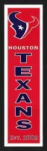 Framed Houston Texans Heritage Banner.