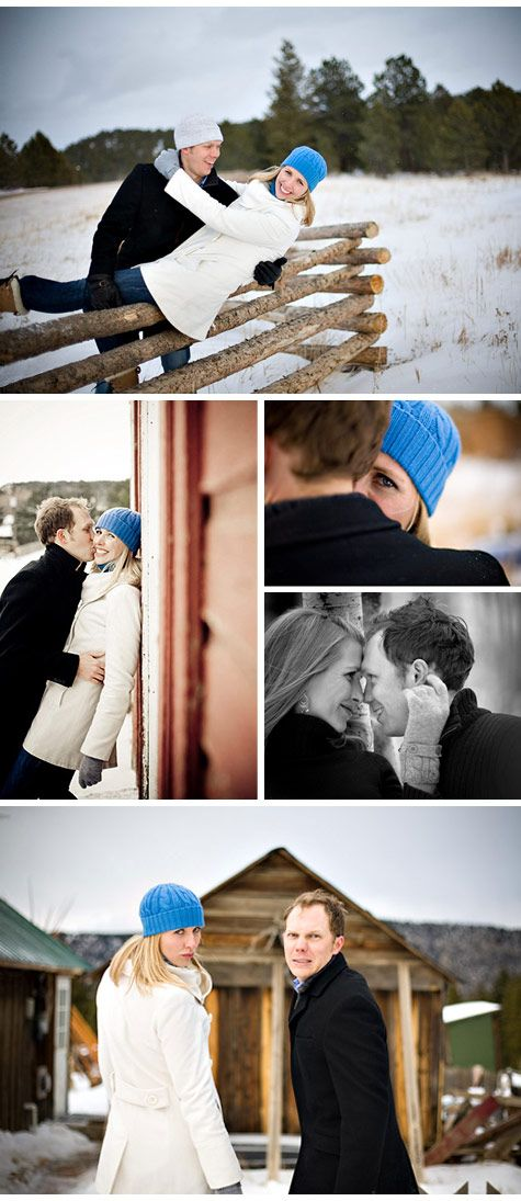 Engagement Photos: Katie and Simon's Snowy Winter Engagement PhotosTheKnot.com -: Couple Winter Photoshoot Ideas, Winter Photoshoot Poses, Photo Ideas, Winter Engagement Photography, Engagement Winter, Engagement Poses, Cute Photo, Engagement Pics, Winter Photography Poses
