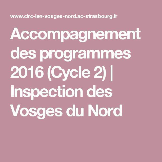 Accompagnement des programmes 2016 (Cycle 2) | Inspection des Vosges du Nord