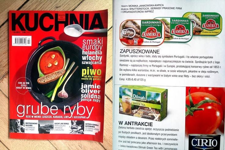 Kuchnia. Magazyn dla smakoszy - 10.2011  Sardynki portugalskie Ramirez  Portuguese sardines Ramirez