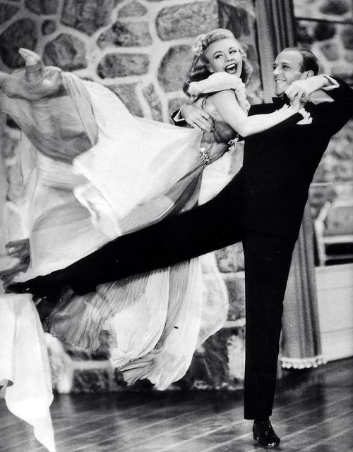 "Ginger Rogers: ""I did everything Fred Astaire did, but backwards, and in high heels."". This picture is adorable!"
