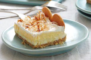 Layered Coconut Cream Cheesecake Bars