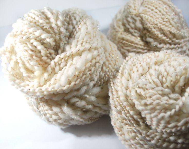 Thick hand spun yarn, super chunky yarn, super bulky yarn, handspun yarn, art yarn, chunky yarn, chunky wool, bulky yarn, thick wool, 223yds by MokshaTextiles on Etsy (null)