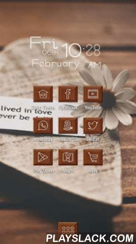 Sweet Love In Chocolate Theme  Android App - playslack.com , Cobo Themes are designed for Cobo Launcher .We all know chocolate is a desert which represents the love, the sweetness, because it contains an endorphin called phenylethylamine, levels of which in the brain have been linked to falling in love. Chocolate has been used as a gift since the days of the Aztecs, who believed it to be a source of spiritual wisdom, energy and higher sexual prowess.Now on the Valentine's Day, our launcher…