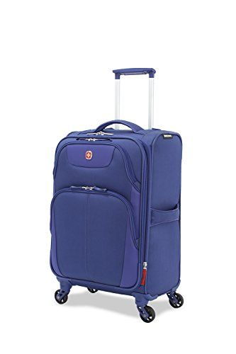 "SwissGear Meyrin 20"" Expandable Spinner Suitcase Dark Blue"