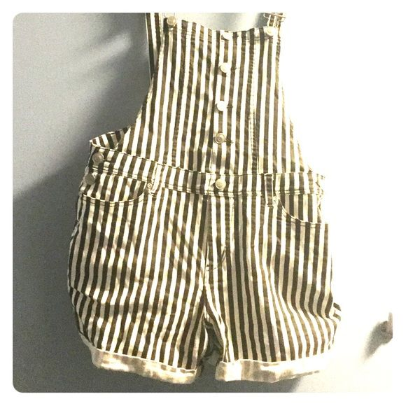 Forever 21 XL black and white stripped overalls Size XL, Black and White Stripes, great condition, Forever 21 Other