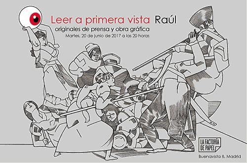 """Gif realizado por cglautre para la exposición """"Leer a primera vista, Raúl"""""""