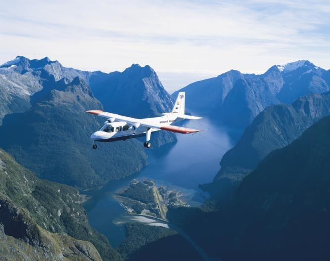 Milford Sound Scenic Flights over Milford Sound