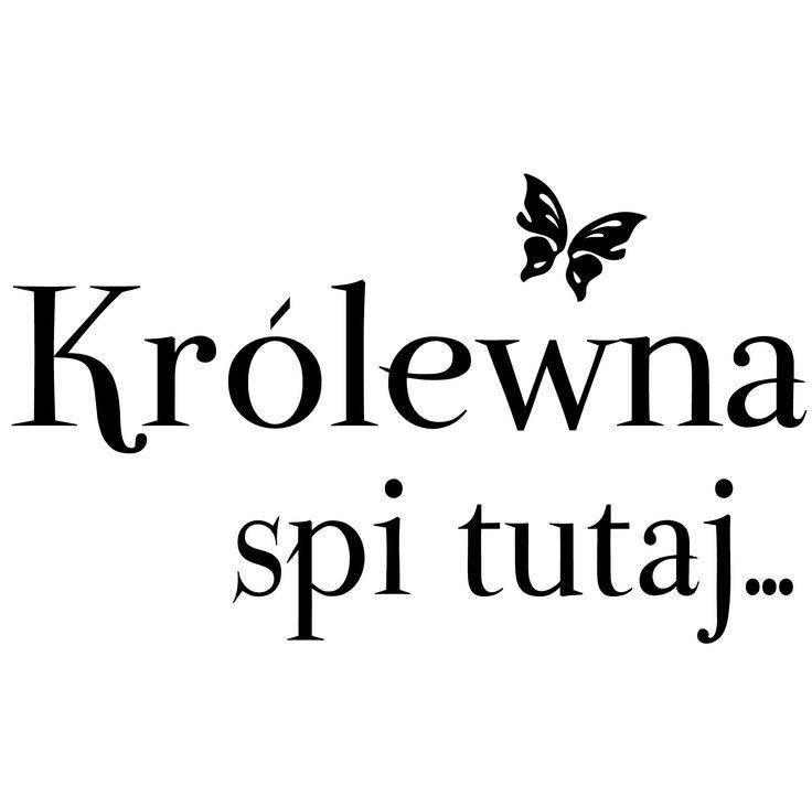 """Naklejki napisy na ścianę dla dzieci """"księżniczka"""" PROJEKT 098AG.art deco"""