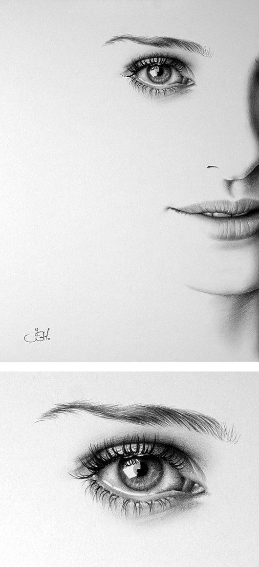 Desenho de um olho e boca - (retirado do Pinterest)