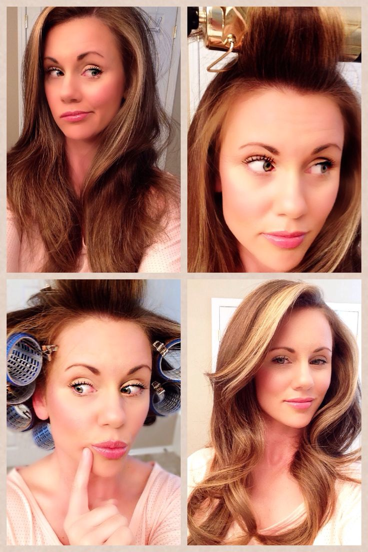 """Hot Tool 2"""" inch curling iron + setting with Velcro rollers = VOLUME"""