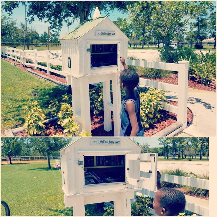 Don't you 💓 these? A #LittleFreeLibrary in the #park. We live 20 minutes from the nearest #library 📖 and to be honest, we've never been in it. We usually get our books online or from their school bookfair. We have been to libraries outside of the area though for events. This is an awesome idea and just 5 minutes away! Looks like a big birdhouse with two shelves full of books for different ages and of different genres. Just take a book and exchange for another. 📚 we have so many childrens…