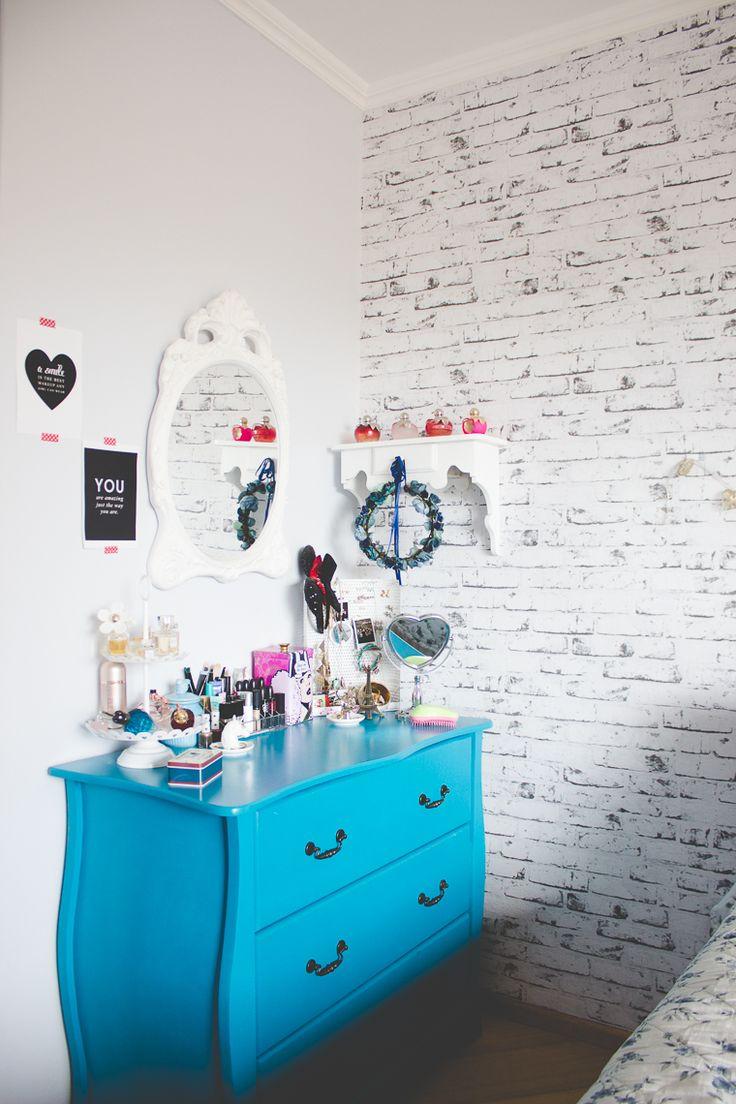 As 181 Melhores Imagens Em Decora O No Pinterest Minha Casa  ~ Papel De Parede Azul Tiffany Quarto
