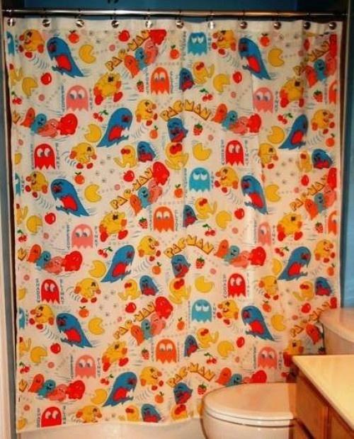 Pac Man shower curtain | THE SHOWER SCENE | Pinterest