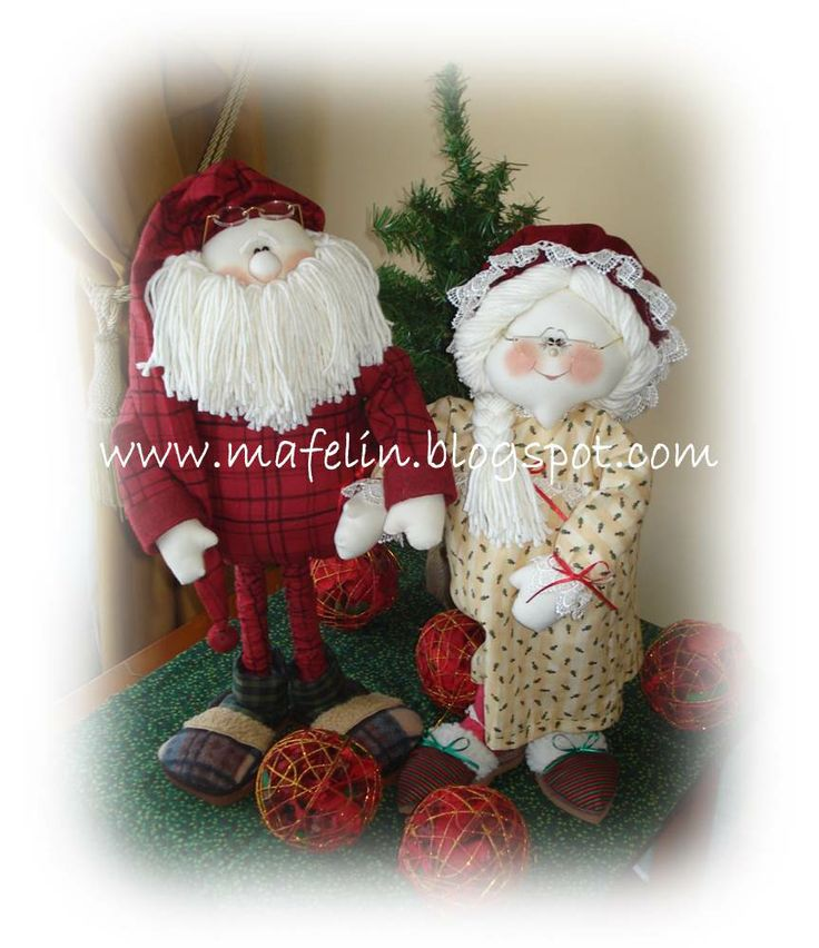 Santa & Clareice. Hand made by me. Design by Sparkles N Spirit.