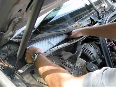 chevrolet cabin air filter replacement