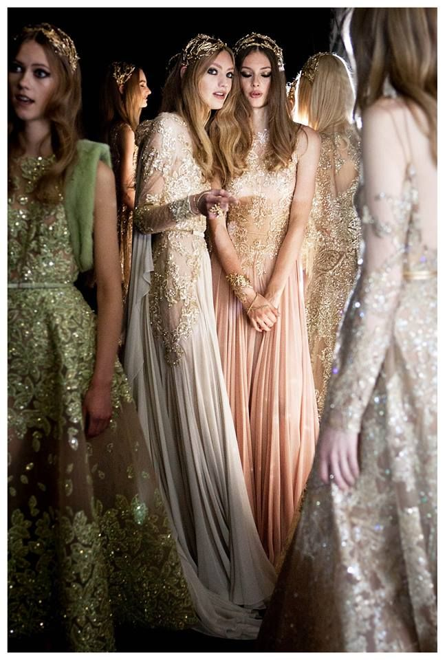 Backstage at Elie Saab Couture Fall 2015 #StyleSalute