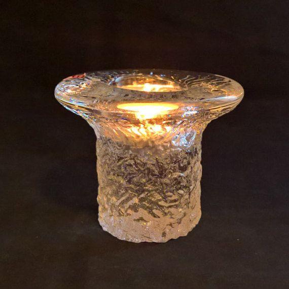 Orrefors Candle Holder Crystal Candle Holder Votive Candle Swedish Crystal Swedish Glass Mid Century Glass Kostaboda Kosta Boda Tea light