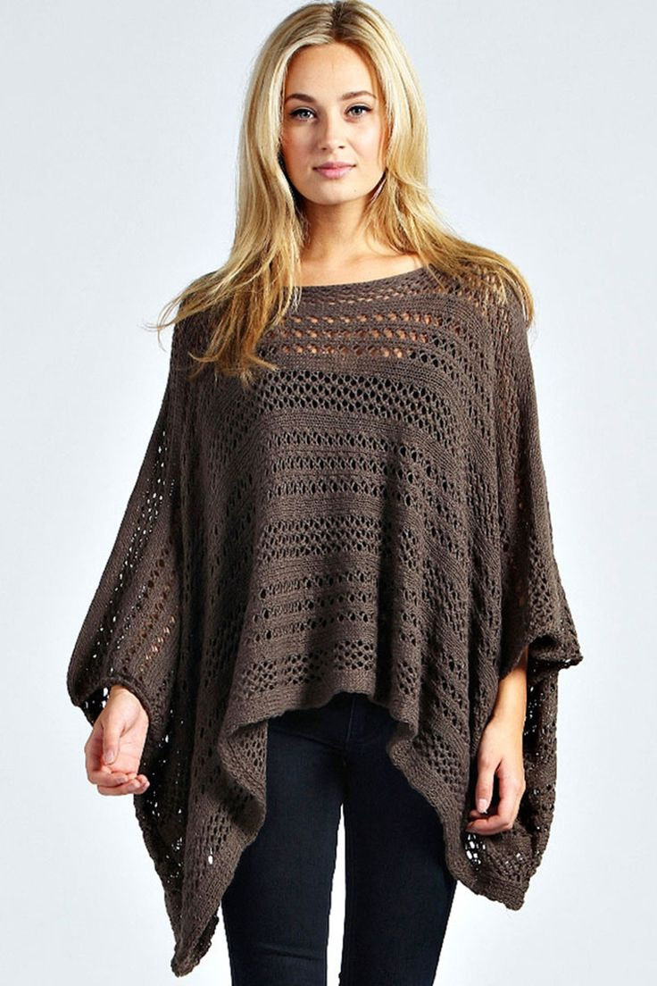 25 best knit poncho images on Pinterest Ponchos, Knit poncho and Knitting p...