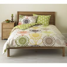 Wilko Floral Duvet Set Green Double