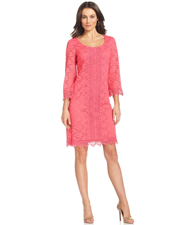 Bridesmaids Alfani Dress Three Quarter Sleeve Lace