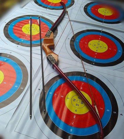Busur Panah Tradisional | Jual Busur Panah Red Recurve Bow cocok untuk Berkuda