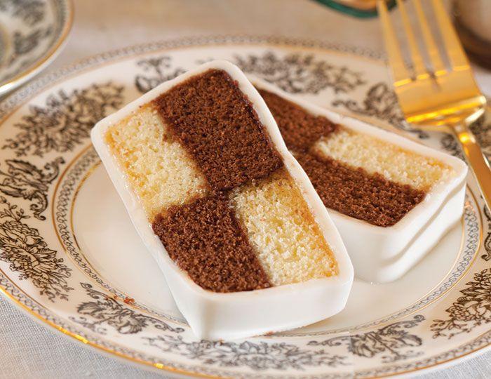 Chocolate and Vanilla Battenberg Cake