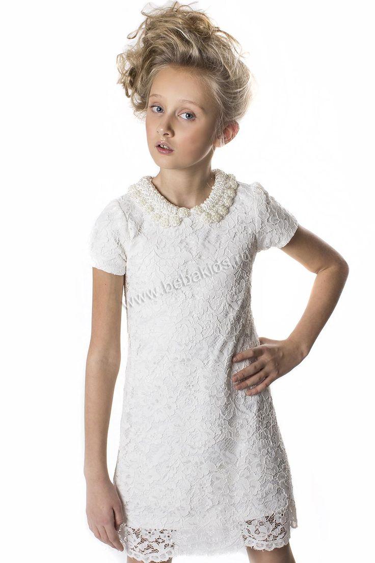"""Платье """"Ворот-жемчуг"""" для девочки 28626-294 разноцветный Noble People"""