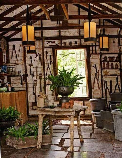 cute rustic garden shed